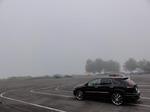 朝は霧がかかって寒い